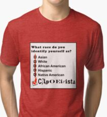 capoeira abada martial arts brasil Tri-blend T-Shirt