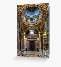 St. Peter's Basillica, Vatican City Greeting Card