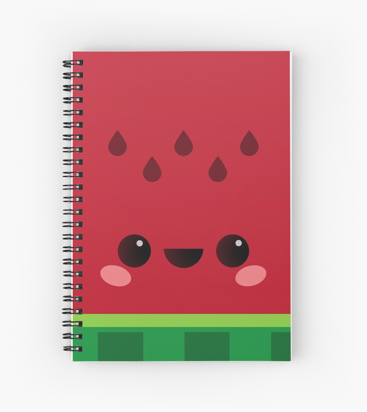 Designer Wall Stickers Quot Wally The Kawaii Watermelon So Cute Quot Spiral Notebooks