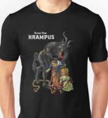 Gruss Vom Krampus Greetings From Christmas Demon  T-Shirt