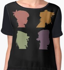 Gorillaz Music Band Chiffon Top
