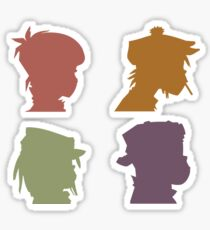 Gorillaz Music Band Sticker