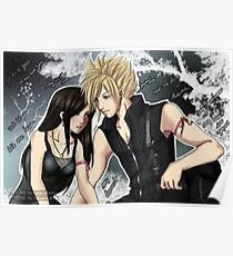 Final Fantasy Cloud and Tifa Poster