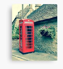 Red Telephone Box in England Canvas Print