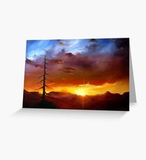 Sante Fe Sunset Greeting Card