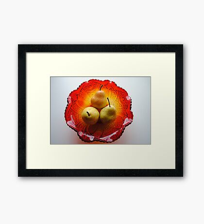 Three Golden Pears Framed Print
