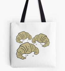 cartoon croissants Tote Bag