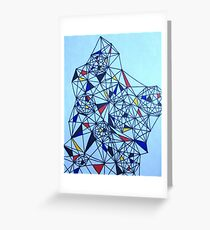 Geometric Drawing in Primary Colors; Mondrian-inspired Greeting Card