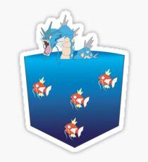 Gyarados&Magikarp pokemon Sticker