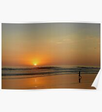 Sunset over La Jolla Shores Poster