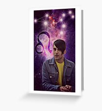 mitch grassi star sign Greeting Card