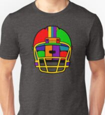 Football Helmet (Rainbow) Unisex T-Shirt