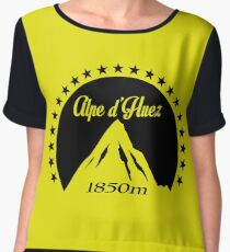 Alpe d'Huez (Black) Women's Chiffon Top