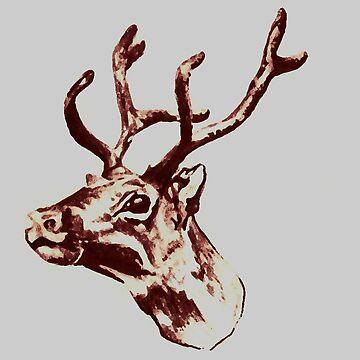 Reindeer  by catherine-art
