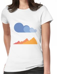 Mountains and Clouds Womens Fitted T-Shirt