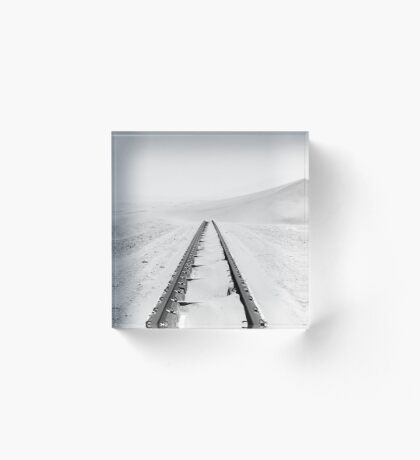 Travelling Dunes | Crossing the Rail-Tracks Acrylic Block