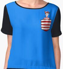 Wally / Waldo is in my pocket Women's Chiffon Top