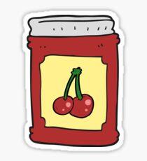 cartoon cherry jam jar Sticker