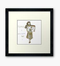 Tiny house lady Framed Print