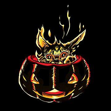 Pumpkin torch kitty by serenekitchen