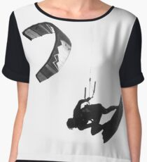 Suspended! - Kite Surfer in the Sky Chiffon Top