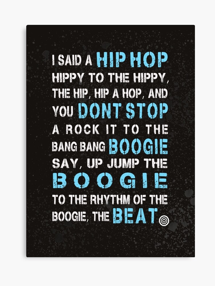 Sugar Hill Gang Rapper's Delight Hip Hop Lyrics | Canvas Print