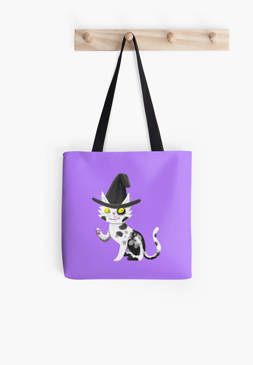 Black and white witches cat by jasmineberry