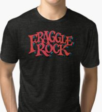 Fraggle Rock - Vintage style in RED Muppet  Tri-blend T-Shirt