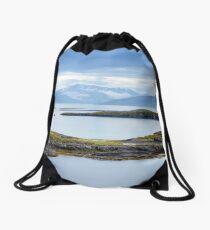 Sail-in to Bodo, Norway Drawstring Bag