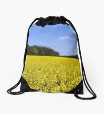 Canola Fields Drawstring Bag