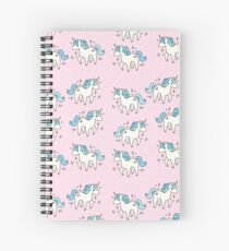 Unicorn Scatter Pattern Spiral Notebook