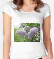 Lilac 6 Women's Fitted Scoop T-Shirt