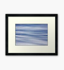 Shadow Painted Ice ... Sprinkled with Snow Framed Print