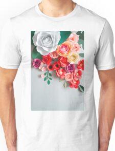 Paper flowers Unisex T-Shirt