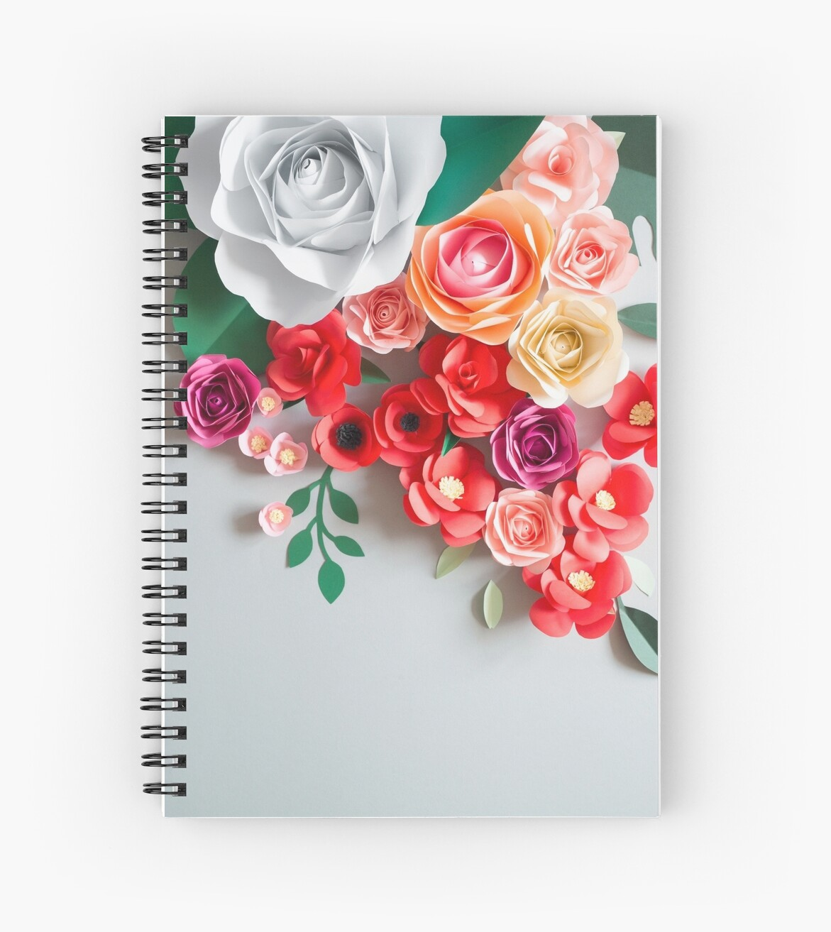 Paper Flowers Spiral Notebooks By Alita Ong Redbubble