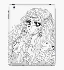 Valkyrie - viking styled manga girl drawing iPad Case/Skin