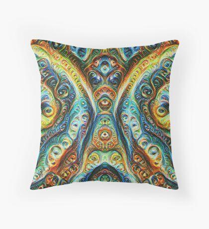 Gothic Style #DeepDream Throw Pillow