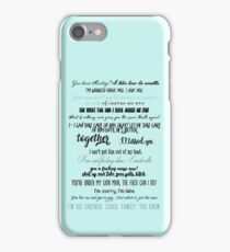 gallavich quotes iPhone Case/Skin