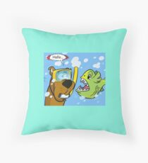scooby doo and fish Throw Pillow