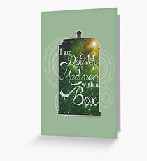 A Mad Man With a Box Greeting Card