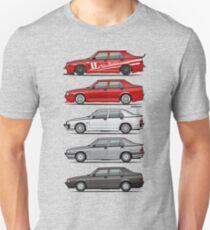 Stack of Alfa Romeo 75 Tipo 161, 162B Milanos  T-Shirt