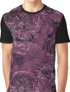 Purple Chaos Abstract Design Graphic T-Shirt