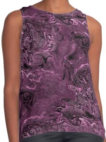 Purple Chaos Abstract Design Contrast Tank