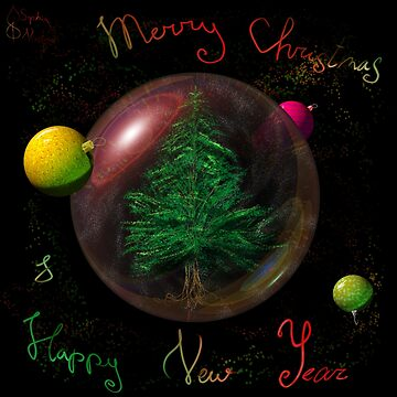 Christmas tree in space by ivrona