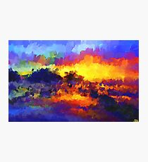 sunset sunrise abstract impressionist bright  Photographic Print