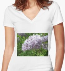 Lilac 1 Women's Fitted V-Neck T-Shirt