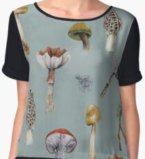 Mushroom Forest Collecting Party Chiffon Top