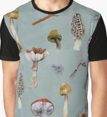 Mushroom Forest Collecting Party Graphic T-Shirt