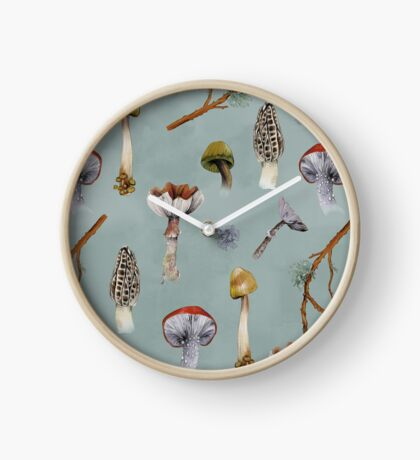 Mushroom Forest Collecting Party Clock