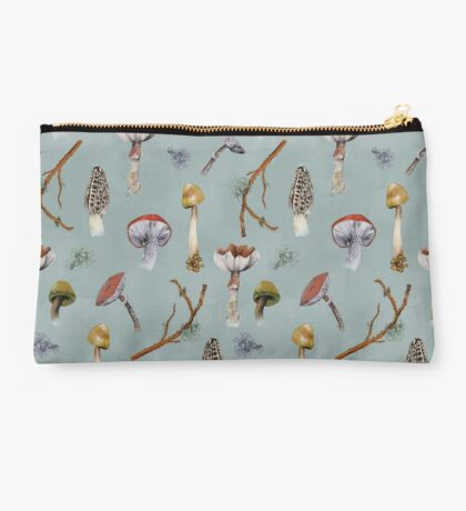 Mushroom Forest Collecting Party Studio Pouch